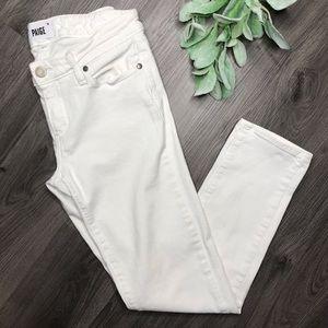 PAIGE |sz 28 skyline ankle peg jean in crisp white